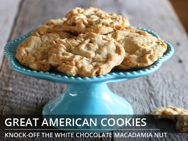 Great American Cookies White Chocolate Macadamia Nut Cookies copycat recipe by Todd Wilbur
