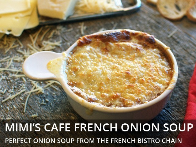 Mimi's Cafe French Onion Soup copycat recipe by Todd Wilbur