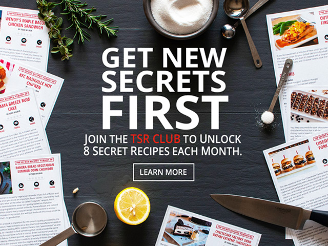 Get 8 free secret recipes every month in the TSR Club