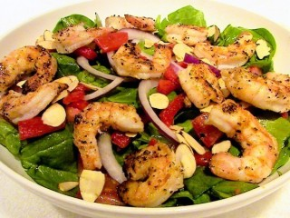 Applebee's Grilled Shrimp 'N Spinach Salad