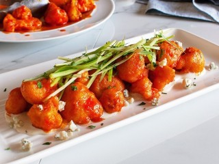 California Pizza Kitchen Spicy Buffalo Cauliflower copycat recipe by Todd Wilbur