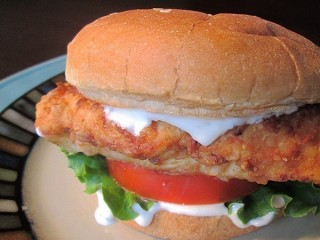 Carl's Jr. Ranch Crispy Chicken Sandwich copycat recipe by Todd Wilbur