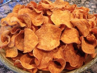 Cheeseburger in Paradise Sweet Potato Chips copycat recipe by Todd Wilbur