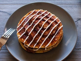 Cheesecake Factory Cinnamon Roll Pancakes copycat recipe by Todd Wilbur