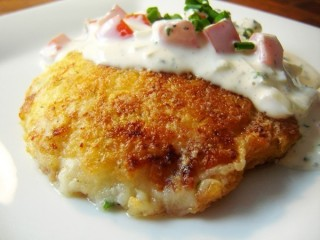 Claim Jumper Cheese Potatocakes copycat recipe by Todd Wilbur