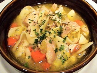 Hard Rock Cafe Homemade Chicken Noodle Soup copycat recipe by Todd Wilbur