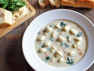 Olive Garden Chicken & Gnocchi Soup copycat recipe by Todd Wilbur