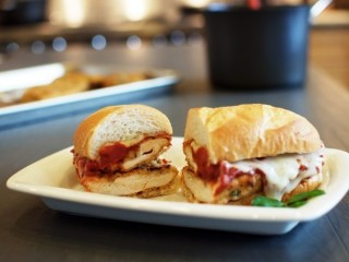 Olive Garden Chicken Parmigiana Sandwich Reduced-Fat copycat recipe by Todd Wilbur