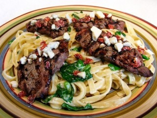 Olive Garden Steak Gorgonzola Alfredo copycat recipe by Todd Wilbur