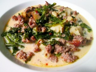 Olive Garden Zuppa Toscana Reduced-Fat copycat recipe by Todd Wilbur