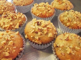 Otis Spunkmeyer Banana Nut Muffins Reduced-Fat copycat recipe by Todd Wilbur