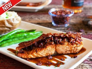 Outback Steakhouse Bacon Bourbon Salmon copycat recipe by Todd Wilbur