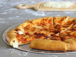 Pizza Hut Stuffed Crust Pizza copycat recipe by Todd Wilbur