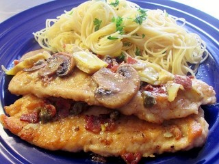 Romano's Macaroni Grill Chicken Scaloppine copycat recipe by Todd Wilbur