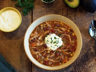 Soup Nazi's Mexican Chicken Chili copycat recipe by Todd Wilbur