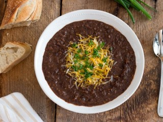 T.G.I. Friday's Black Bean Soup copycat recipe by Todd Wilbur